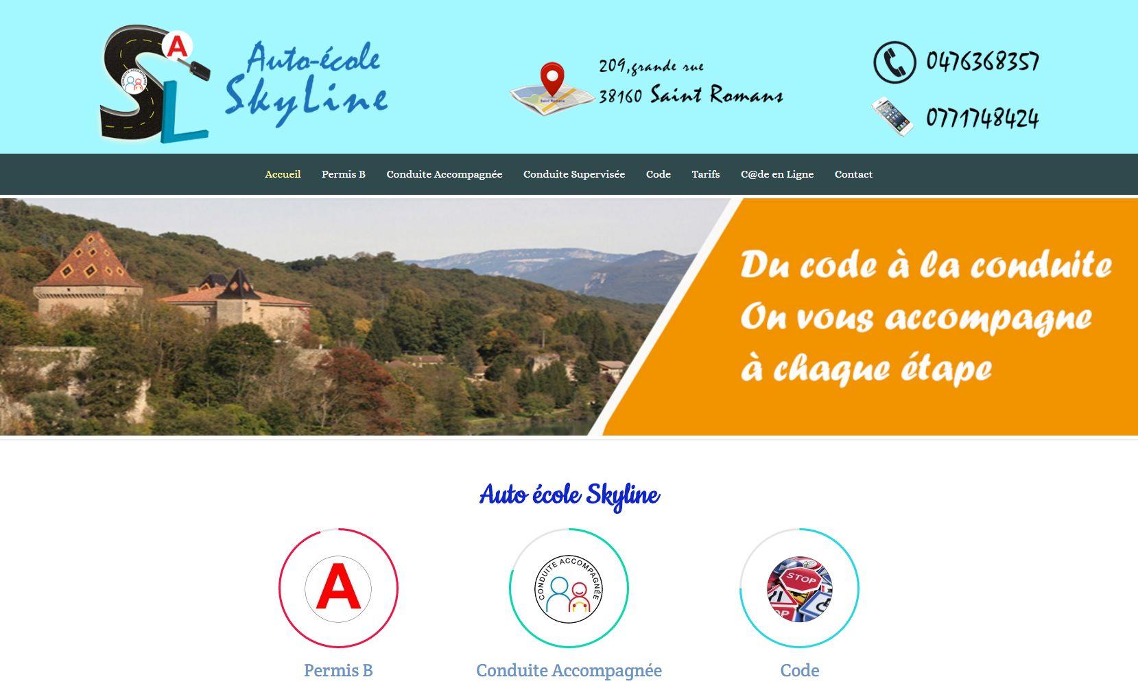 site auto école réalisé par Infoweb38
