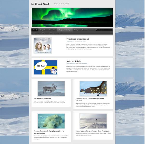site sur le grand nord créé par infoweb38
