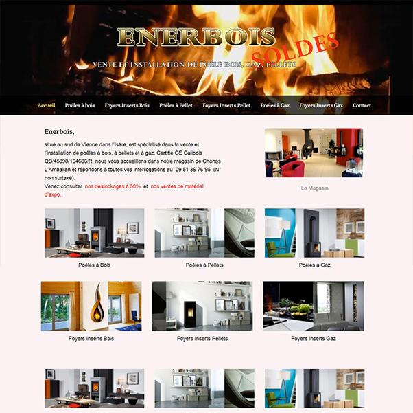 site d'enerbois créé par infoweb38