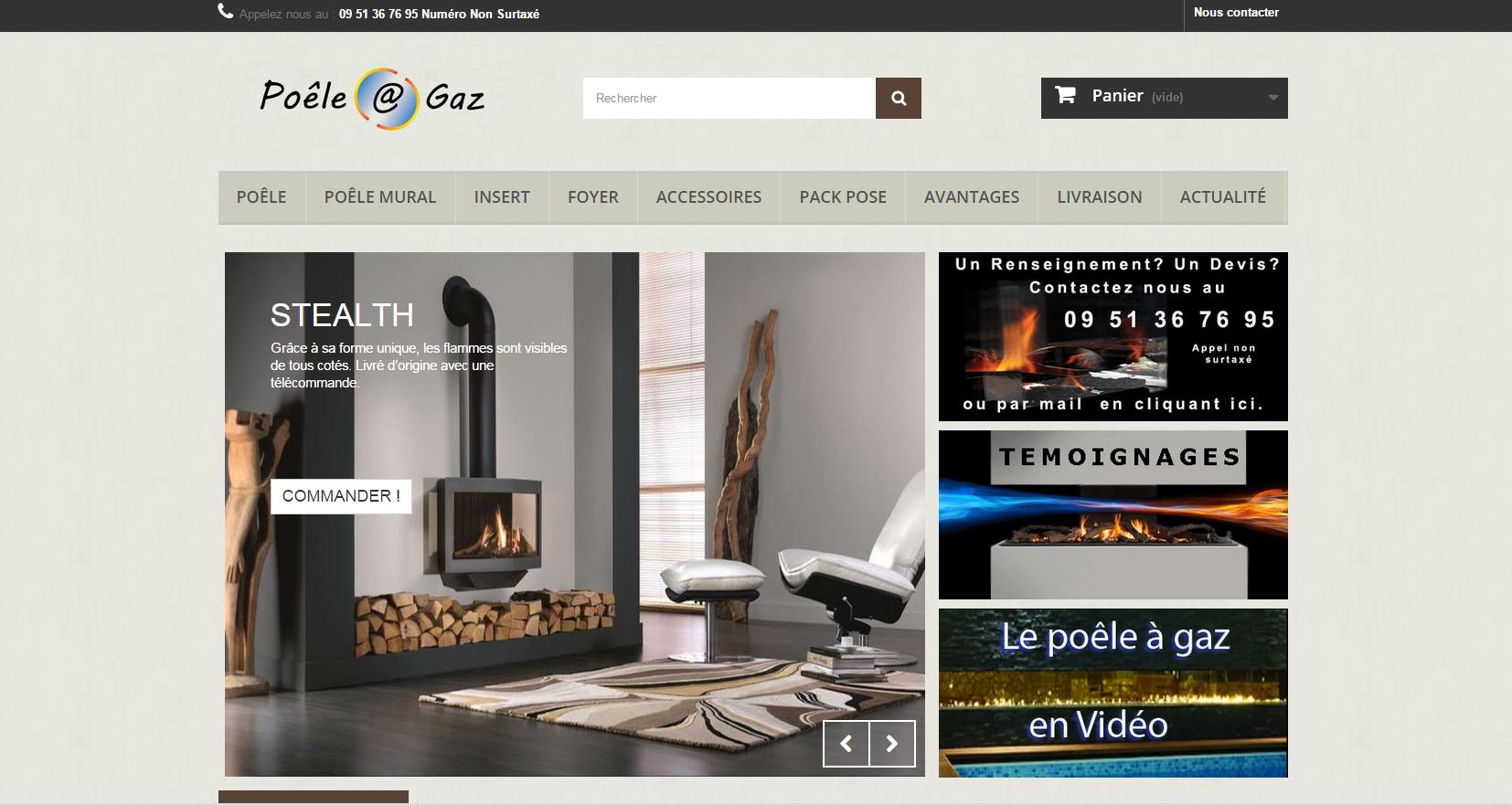image du site poele a gaz créé par infoweb38 nord isere infoweb38