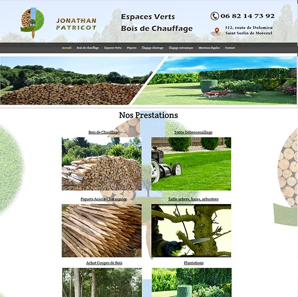 image du site jpatricot marchand de bois de chauffage site internet nord isere infoweb38