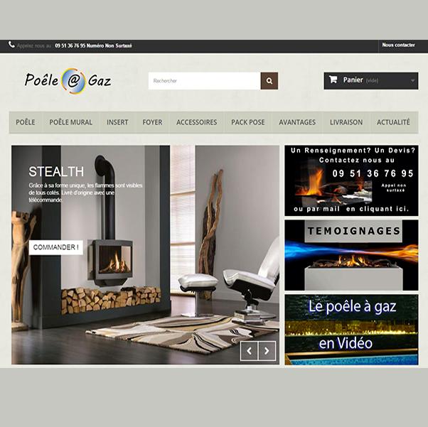 image du site poele à gaz créé par infoweb38 site internet nord isere infoweb38