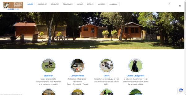 image du site dauphiné éducation canine créé par site internet nord isere infoweb38