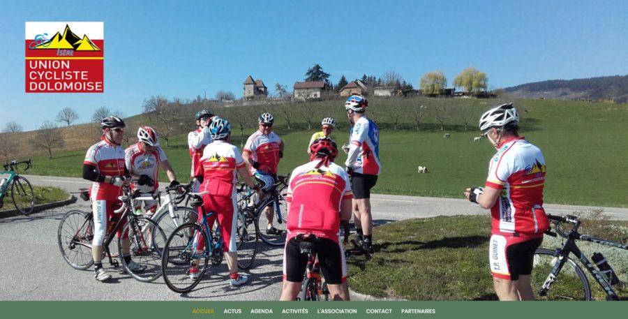 image du site union cycliste dolomoise site internet nord isere infoweb38