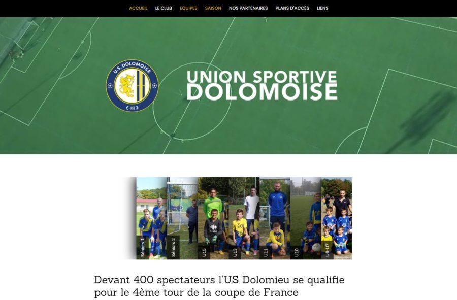 image du site union sportive dolomoise site internet nord isere infoweb38